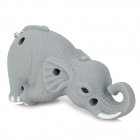 Cute Elephant Style Blue Light LED Keychain w/ Sound Effect - Grey (3 x AG13)