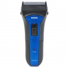 POVOS PS2208 Washable Rechargeable Electric Dual-blade Shaver Razor - Black + Blue