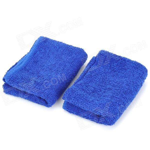 Microfiber Antifog Glass Washing / Cleaning Towels - Blue (2 PCS)