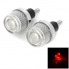 SENCART Motorcycle Handle Grip Red 3-Mode Decoration Lamps - Silver + White (3 x LR44)