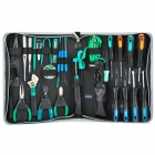 Pro'skit PK-2088B 28-in-1 Professional Electric Repairing Tool Kit - Silver + Black + Blue + Green