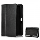 Protective Flip-Open PU Leather Case w/ Stand for ASUS TF600T - Black