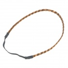 001 Small Twist Style Wig Decoration Hair Band - Dark Brown (0.9cm Width)