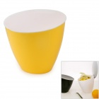OL-545 Mini Desktop Waste Bin - Yellow + White