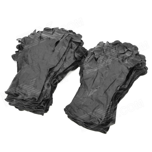 Tattoo Buna-N Latex Gloves - Black (100 PCS)