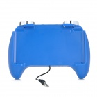 USB Rechargeable Gaming Hand Grip Holder w/ Speakers / Audio Plug for Nintendo 3DS - Blue