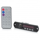 CT08E 1.5'' LCD MP3 Player Module w/ FM / USB/ / TF / 3.5mm Jack / Remote Controller - Black (12V)