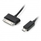 2-in-1 Micro USB OTG Cable + OTG Cable Adapter for Samsung Tab - Black