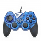 Topway ZhiZun2 Dual Shock Wired USB Gaming Grip - Blue + Black (180cm)