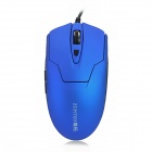 ZUNTUO ZT-201-LANSE USB Wired 600 / 1000 / 1600dpi Optical Mouse - Blue + Black (140cm)