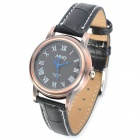 NARY 6032 Retro Style Fashion Zinc Alloy Analog Quartz Wrist Watch - Bronze + Black (1 x 377A)