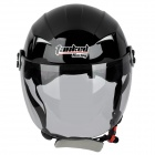 Tanked T-505 Outdoor Motorcycling Electric Bike Helmet w/ Plug Lock - Bright Black (Size L)