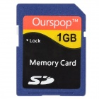 Ourspop DM-22 SD Memory Card - Blue (1GB / Class 6)
