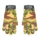 Bicycle Cycling Warm Anti-slip Fleece Gloves - Camouflage (Size L / Pair)
