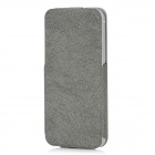 USAMS IP5NZB02 Protective PU Leather Top-Flip Open Case for Iphone 5 - Grey