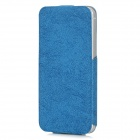 USAMS IP5NZB02 Protective PU Leather Top Flip-Open Case for Iphone 5 - Blue