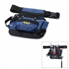 Fasite PT-N013 Open Type Single Hanging Oxford Fabric Electrician Tool Bag Waist Bag - Black + Blue