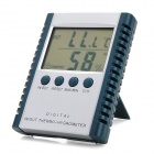 "2.5"" LCD Digital Thermometer Hygrometer / Hygrothermograph - Dark Grey + Silver (1 x AAA)"