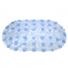 Non-slip PVC Bath Mat for Bathroom Toilet Kitchen - Blue