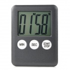 "1.8"" LCD Kitchen Timer / Countdown Meter / Reminder - Black + Dark Grey (1 x L1131)"