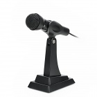 NUBWO NO110 Wired 3.5mm Jack Desktop / Handheld Microphone w/ Holder - Black (180cm)
