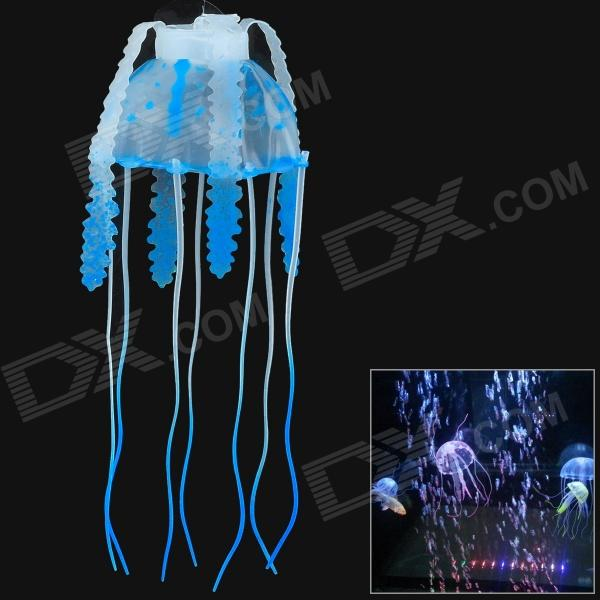 E5YK Simulation Floating Small Jellyfish Fish Tank Backdrop Decorations - Blue