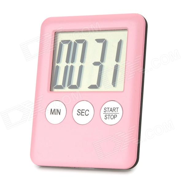 "1.8"" LCD Kitchen Timer / Countdown Meter / Reminder - Pink (1 x L1131)"