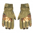 Outdoor Mountaineering Men's Full-finger Warm Gloves - Military Green (Size L / Pair)