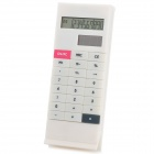 "1.6"" LCD Display Solar Powered Clip Style Pocket Calculator - White"
