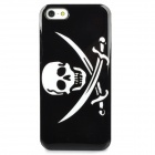 Protective Pirate - Like Skull Pattern Back Case for Iphone 5 - Black + White