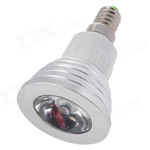 E14 3W 110lm / 60lm 6500K / 500K 1-LED White / RGB Light Spotlight - Silver + White