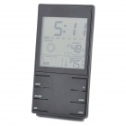 "HTC-2S High Precision 3.4"" LCD Electronic Hygrometer / Thermometer w/ Calendar + Alarm Clock - Black"