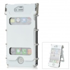 Protective Flip-Open Aluminum Alloy Case w / Screen Guarder für iPhone 4 / 4S - Weiss
