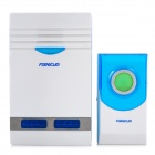 Wireless Remote Control 36 Chore / Bell Music Doorbell - White + Blue