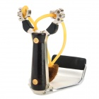 Professional Outdoor Stainless Steel Slingshot Launcher w/ Support - Black
