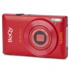 "BOQY CDPE 2.7"" TFT LCD CMOS 5.0MP Digital Camera w/ 4X Digital Zoom - Red"
