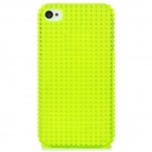 Protective 3D Non-Slip Dot Pattern Back Case for iPhone 4 / 4S - Translucent Light Green