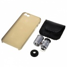 60X Zoom LED Micro Lens Microscope w/ Back Case for iPhone 5 - Silver + Black