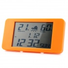 "003 3.5"" LCD Desktop Alarm Clock w/ Temperature / Humidity Display - Orange"