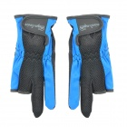 Angeln Three Half-Finger + Zwei Full-Finger Anti-Rutsch-Handschuhe - Black + Blue (Pair)