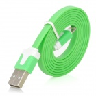 005 Flat USB Data & Charging Cable for iPhone 5 - Green + White (95cm)