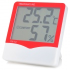 TH-13 Household Electronic Temperature Hygrometer - Red + White