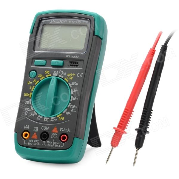Pro'sKit MT-1210-C 1.9 LCD Digital Multimeter - Green + Black (1 x 6F22) pro skit mt 1210 2 0 lcd digital multimeter blue deep grey 1 x 9v battery page 7