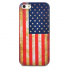 Protective Retro American Flag Pattern Back Case for Iphone 5 - Multicolored