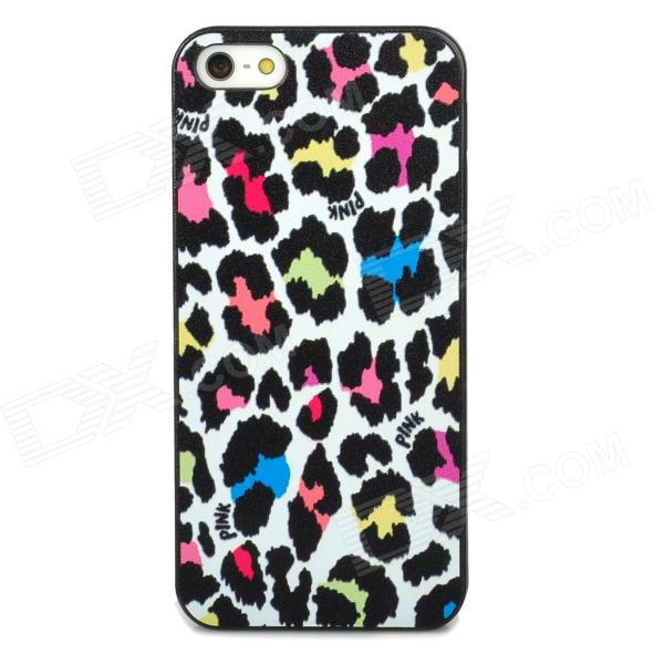Protective Fashion Leopard Pattern Back Case for Iphone 5 - Multicolored