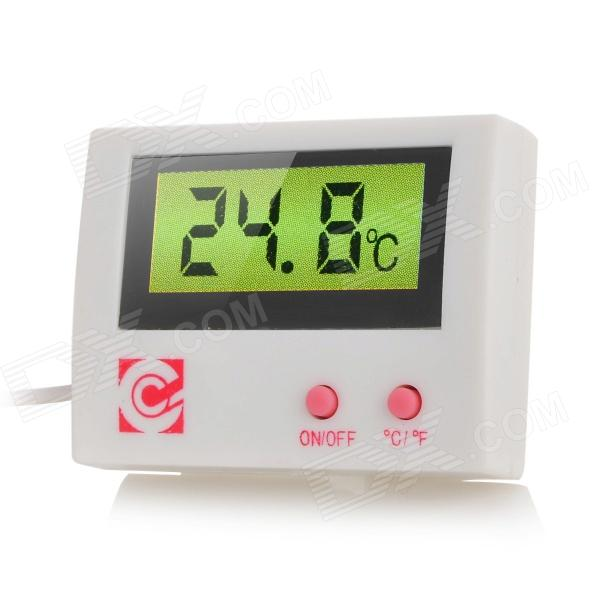 "HT-5 4.2"" LCD Digital Hygrothermograph for Aquarium - White + Red"