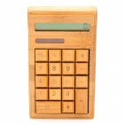 "QJ18 3.0"" LCD 12-Digit Solar Powered Bamboo Calculator"