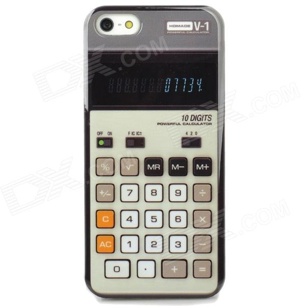 все цены на  Protective Retro Calculator Style Back Case for Iphone 5 - Black + White + Grey White  онлайн