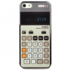 Protective Retro Calculator Style Back Case for Iphone 5 - Black + White + Grey White