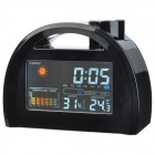 WT-BDC 3.8'' LCD Display Color Screen Weather Station Clock - Black (3 x AAA)